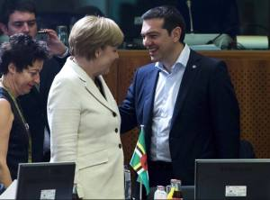 Syriza e Angela Merkel