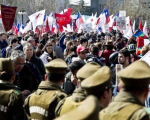 Protesto a favor da educação pública no Chile