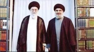 Ali Khameni, o líder supremo do Irã, com o líder do Hizbollah