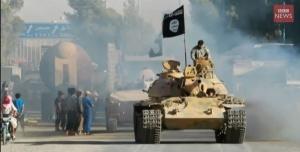 O Estado Islâmico nos seus tanques