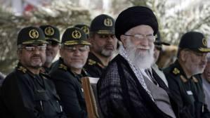 Ali Khamenei e a cúpula da Guarda Republicana