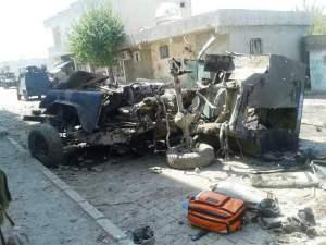 Silopi'deki zirhli polis araci hurdaya dondu